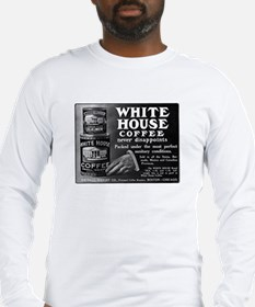 Vintage Coffee Ad Long Sleeve T-Shirt