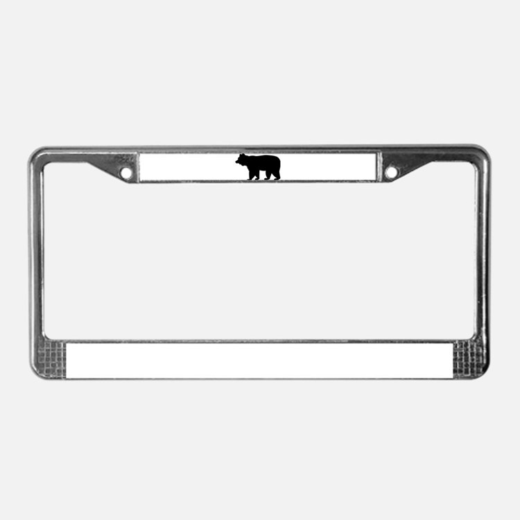 Black bear License Plate Frame