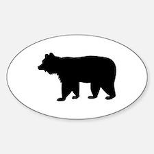 Black bear Sticker (Oval 10 pk)