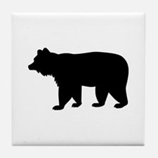 Black bear Tile Coaster