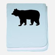 Black bear baby blanket