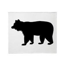 Black bear Throw Blanket