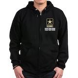 Army veteran Zip Hoodie (dark)