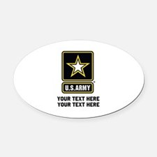 US Army Star Oval Car Magnet