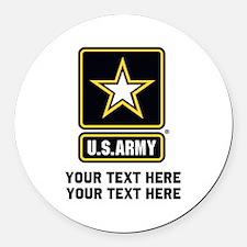 US Army Star Round Car Magnet
