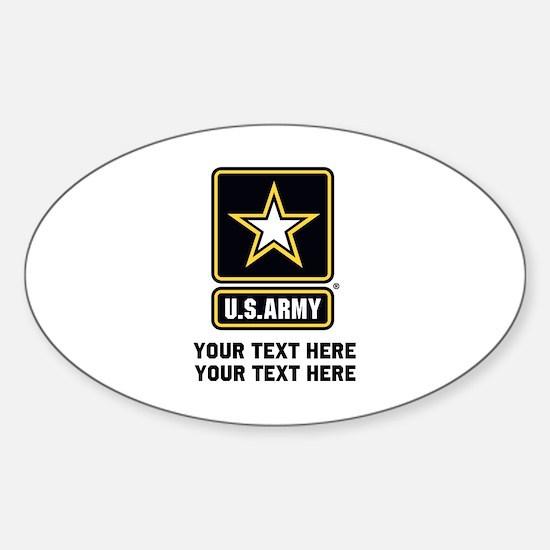 US Army Star Sticker (Oval)