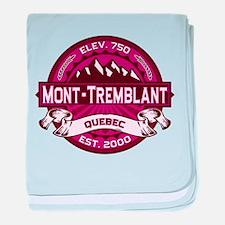 Mont-Tremblant Raspberry baby blanket
