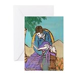 Last Dance Muerto Style Greeting Cards (Package of