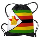 Great zimbabwe bird gold Drawstring Bag