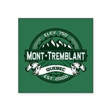 "Mont-Tremblant Forest Square Sticker 3"" x 3"""