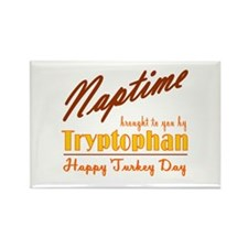 Turkey Day Nap Rectangle Magnet