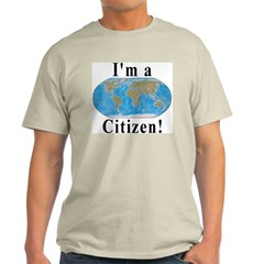 World Citizen Ash Grey T-Shirt