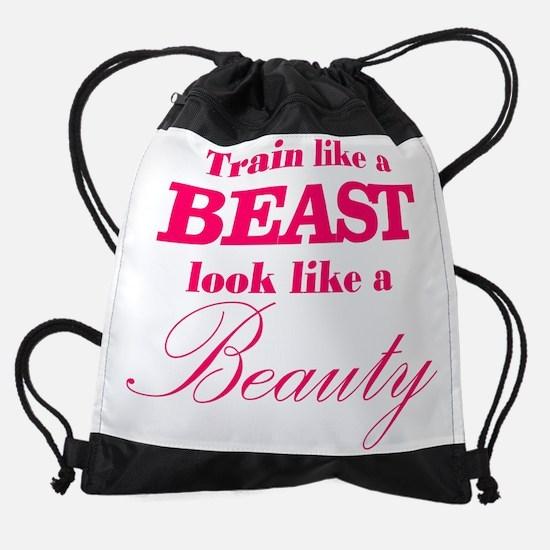 Train like a beast look like a beau Drawstring Bag
