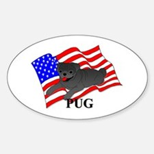 Pug USA Decal