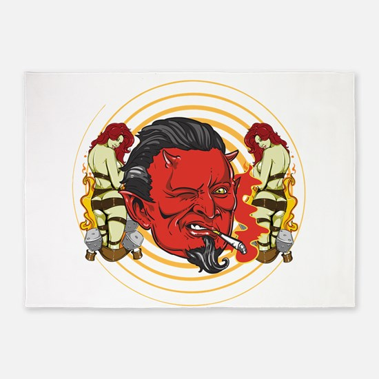 Winking Devil 5'x7'Area Rug