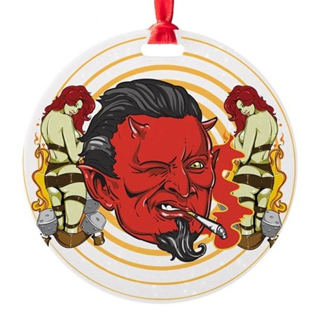 Winking Devil Ornament