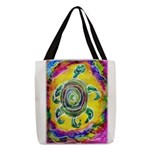 Abstract Turtle Polyester Tote Bag