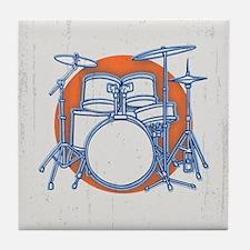 Offset Drum Kit Tile Coaster