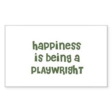 Happiness is being a PLAYWRIG Sticker (Rectangular
