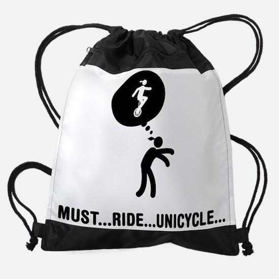 Unicycle-Rider-C Drawstring Bag