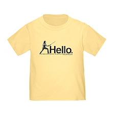 Princess Bride Inigo Montoya Toddler T-Shirt