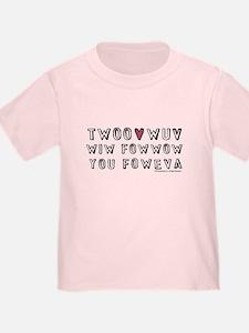 Princess Bride Twoo Wuv Foweva T
