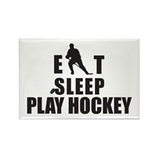 Eat Sleep Play Hockey Rectangle Magnet