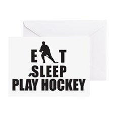 Eat Sleep Play Hockey Greeting Cards (Pk of 10)
