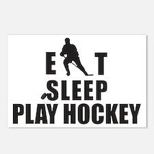 Eat Sleep Play Hockey Postcards (Package of 8)