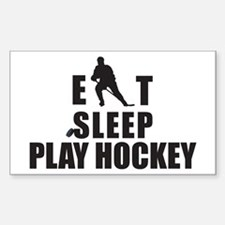 Eat Sleep Play Hockey Rectangle Decal
