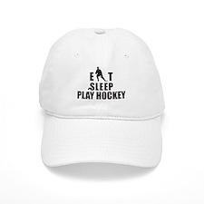 Eat Sleep Play Hockey Baseball Cap