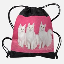 Turkish Angora Kittens Drawstring Bag