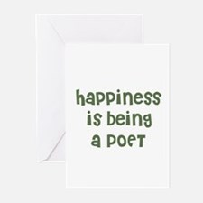 Happiness is being a POET Greeting Cards (Package