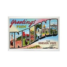Indiana Greetings Rectangle Magnet