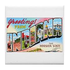 Indiana Greetings Tile Coaster