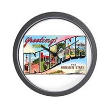 Indiana Greetings Wall Clock