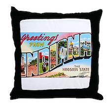 Indiana Greetings Throw Pillow