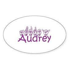 Audrey Oval Decal