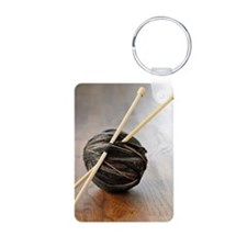 Ball of yarn with knitting Keychains