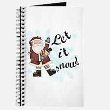 Santa Let it Snow Journal