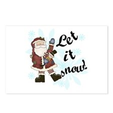 Santa Let it Snow Postcards (Package of 8)
