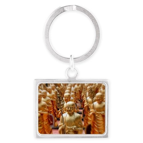 Row upon row of statues housing Landscape Keychain