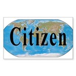 World Citizen Rectangle Sticker