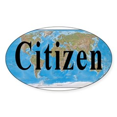 World Citizen Oval Decal
