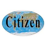 World Citizen Oval Sticker