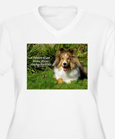 A heart that loves stays young forever Plus Size T