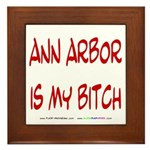 Ann Arbor is my BITCH Framed Tile