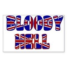 """Bloody Hell"" Rectangle Decal"