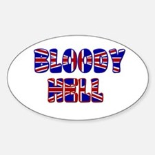 """""""Bloody Hell"""" Oval Decal"""
