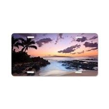 Maui makena cove sunset Aluminum License Plate